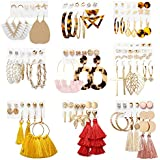 36 Pairs Earrings for Women Set Tassel Big...