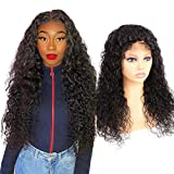 Volvetwig 5x5 Lace Closure Wig Water Wave Human Hair Wig 5x5 Lace Wig Unprocessed Glueless Wig Long Remy Virgin Hair 130% Density Swiss Lace Brazilian Hair Wig 26 inch/ 65 cm…