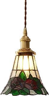 Lampa Wisząca Tiffany Glass Mosiężne Lampy Sufitowe Drop, Rustykalne Mini Wiszące Żyrandol Light Kitchen Island Lighting F...