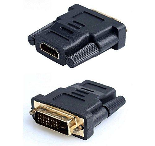 Demarkt Conversor Adaptador HDMI Hembra a DVI 24+1 Macho Conector Clavija Dorado 2305