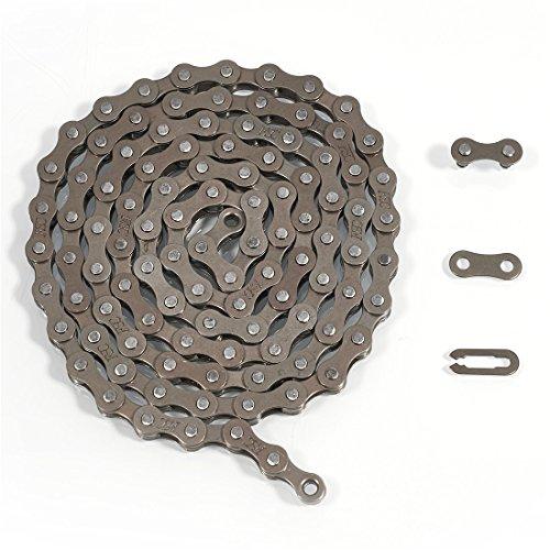 ZHIQIU FSC F410 - Cadenas de bicicleta (1/2 x 1/8 pulgadas, 104 L) (marrón)