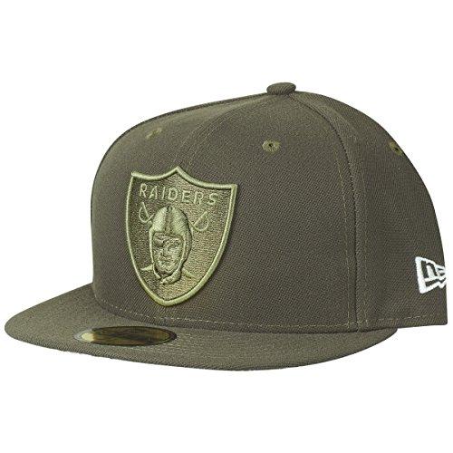 New Era 59Fifty Cap - Salute to Service Oakland Raiders oliv , Gr. 7 1/2 - (59,6cm)