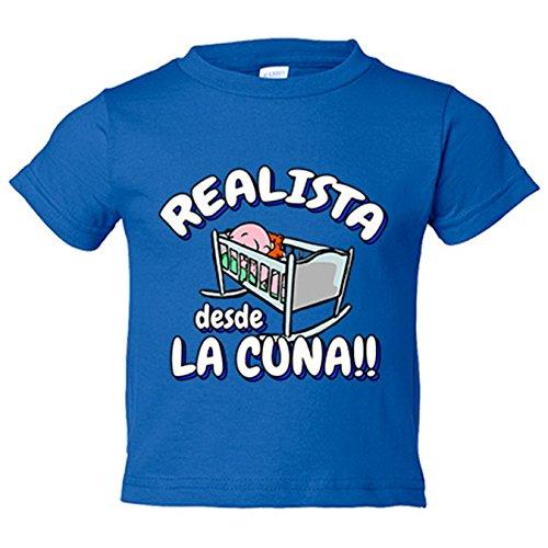 Camiseta niño Realista desde la cuna Real Sociedad fútbol - Azul Royal, 12-18 meses