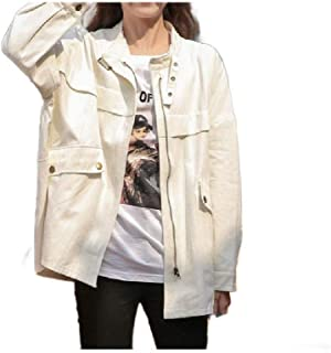 neveraway Women Casual Slim Fit Jacket Overcoat Slant Pocket Trench Coat