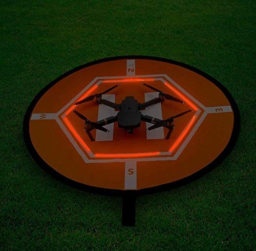 XUSUYUNCHUANG D80 cm Drone atterraggio Parcheggio Pad Glow in Dark per DJI Phantom 2 3 4 Mavic Pro Air Inspire 1 Quadcopter RC Racing Gadget Drone Accessori