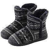 DimaiGlobal Inverno Pantofole da Casa Morbido Antiscivolo Scarpe Caldo Peluche Ciabatte Cotone Scarpe Casa Pattini per Donna Uomo Interne Esterno Stivaletto con Pom Poms