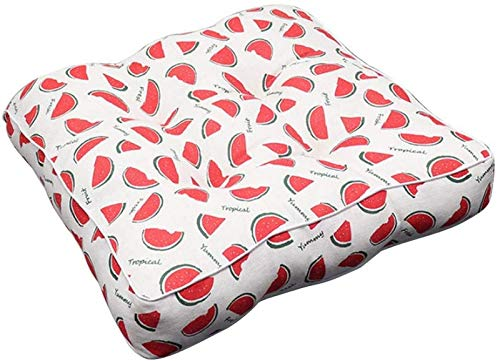 GYC Thick Printed Chair Cushion Square Seat Pad 40 x 40 cm Soft Breathable Back Cushion 16 x 16 Inch 3D Style for Office Dining Classroom Auto Garden Outdoor (Floral #2)