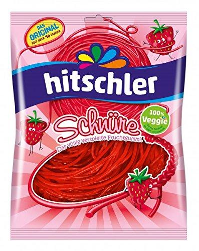Hitschler Erdbeer Schnüre Fruchtgummi ohne Gelatine 125 g