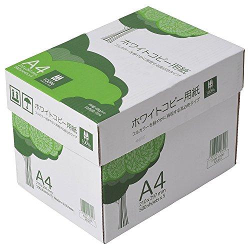 スマートマットライト APP 高白色 ホワイトコピー用紙 A4 白色度93% 紙厚0.09mm 2500枚(500枚×5冊) PEFC認証