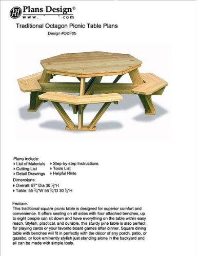octagon picnic table - 3