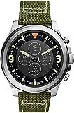 Fossil HR Latitude - Smartwatch ibrido con cinturino Nylo verde oliva da uomo FTW7019