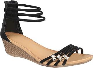 Sandalias de Mujer Cuña Abierto Chic Chunkyrayan