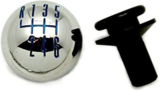 Pirate Mfg Chrome Billet 6-Speed Shift Knob w/Retainer - Blue Pattern, 2011-14 Mustang