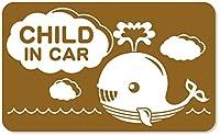 imoninn CHILD in car ステッカー 【マグネットタイプ】 No.33 クジラさん (ゴールドメタリック)