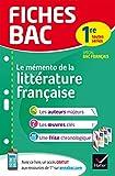 Fiches bac Mémento de la littérature française 1re - Fiches de révision Spécial bac français
