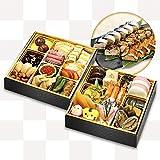 【くら寿司特製】「おせち二段重&3種の棒寿司」セット【12月30日お届け】3~4人前 四大添加物無添加 予約