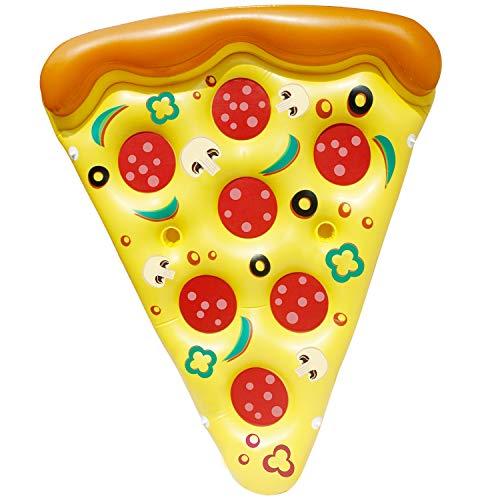 JOYIN 1 Pezzo Pizza Galleggiante Gonfiabile da Piscina Galleggianti Divertenti Piscina Giocattoli per Festa Estiva in Piscina Porta bibite Gigante