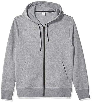 Amazon Essentials Men s Water-Repellent Thermal-Lined Full-Zip Fleece Hoodie Grey Heather Small