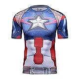 Cody Lundin® Cosplay de la Serie Capitán América superhéroes de los Hombres Deporte al Aire...