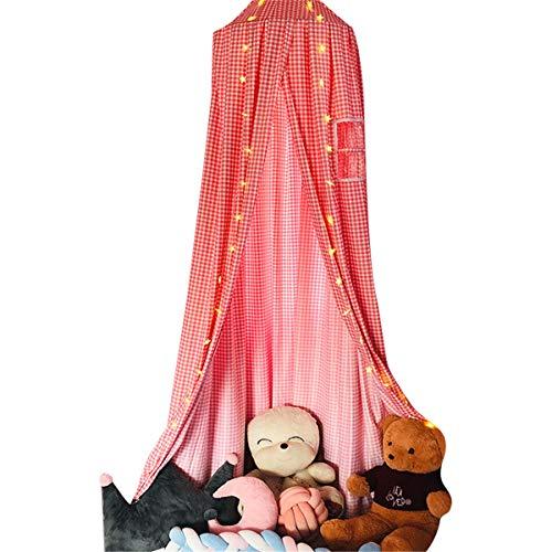 JHKGY Toldo De Cama De Princesa para Cama De Bebé para Niños,Cama con Dosel, Ropa De Cama Premium Play Tent,Mosquitera Redonda para Tienda De Campaña para Niños,Cortinas De Red Redondas para Niños