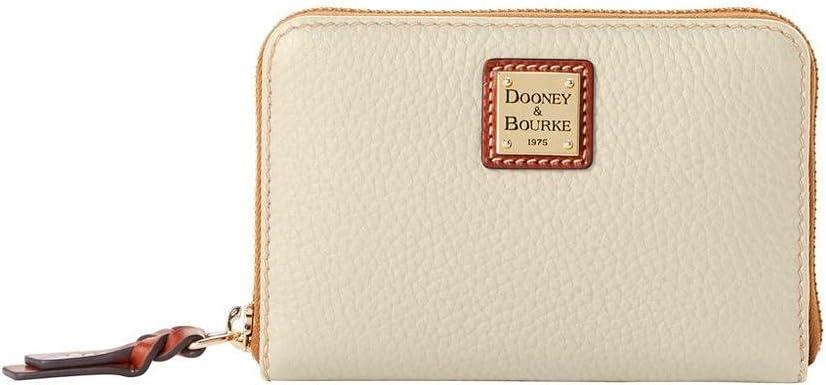 Dooney & Bourke Pebble Medium Zip Around Wallet Bone