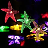 Starfish Solar String Lights,20ft 30 LED Halloween Christmas LED Fairy String Lights for Outdoor,Home,Lawn,Garden,Wedding,Patio,Party,Halloween and Holiday Decorations [Multi-Color]