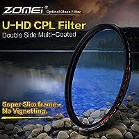 ZOMEI HD光学ガラスCPLスリムマルチコート円形偏光フィルター58mm