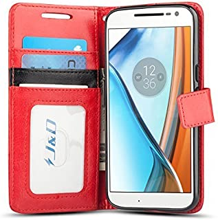 Moto G4 / G4 Plus Case, J&D [Wallet Stand] [Slim Fit] Heavy Duty Protective Shock Resistant Wallet Case for Motorola Moto ...