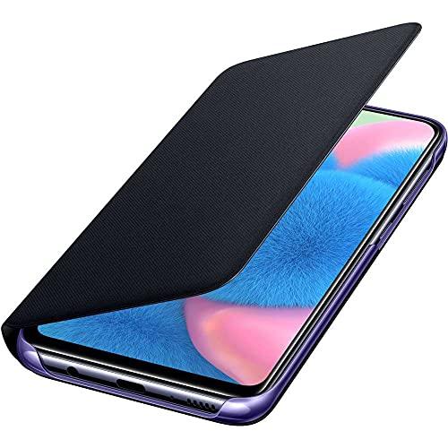 SAN86 Samsung Galaxy A30s Wallet Cover Case - Black