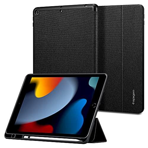 Spigen Urban Fit Hülle Kompatibel mit iPad 10.2 Zoll iPad 9 2021 / iPad 8 2020 / iPad 7 2019 - Schwarz