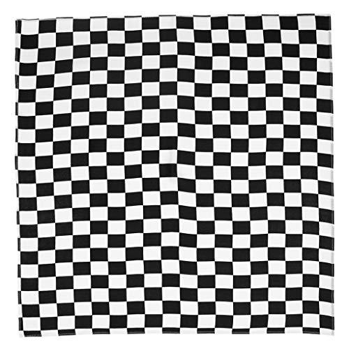 Changzhou Unisex Multifunktionales quadratisches Stirnband für Motorrad/Outdoor-Sport, 55 x 55 cm, Weiß / Schwarz