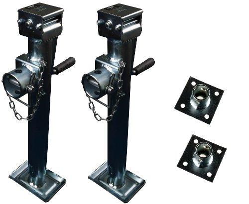 Preisvergleich Produktbild WAMO Stützfuß Set 560mm Ausdrehstütze Kurbel-Stütze Schwenkstütze Anhänger Trailer