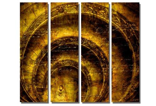 Offre spéciale ! toile xxl moderne & marché) (round stairs_4 x 30 x 100 cm sur toile avec châssis et cadre en bois grand format shop. version impression artistique comme toile de fond avec cadre en façon idées décoration pour une installation meilleur marché comme peinture à l'huile photo poster affiche avec bilderrahmen. décoration pour salon et chambre à coucher-style moderne abstrait picture spirale jaune/marron inscription)./100 % fabriqué en allemagne-produit de qualité en allemagne. d'autres photos sur notre boutique en ligne.