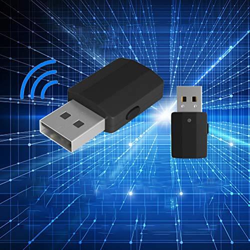 Adattatore Bluetooth Trasmettitore e ricevitore Adattatore chiavetta USB Bluetooth 5.0 2 in 1 Trasmettitore Bluetooth USB con display, con cavo audio digitale da 3,5 mm per PC Cuffie TV per tab