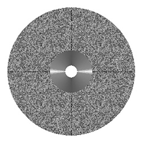VAL-Lab D916-220C(327.524.220)/M Diamond Disks, Premium Quality, Semi Flex, Double Sided/Mounted, Size 22 mm, Thickness 0.50 mm, 100 μm, Coarse Grit