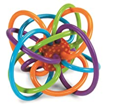 BABY TEETHING TOY MADE FOR LITTLE HANDS:  The Winkel features a mesmerizing maze of soft, continuous BPA-free teething tubes, and can be refrigerated for additional soothing comfort - a perfect baby chew toy for tiny hands. DEVELOPMENTAL BABY TOY:  B...