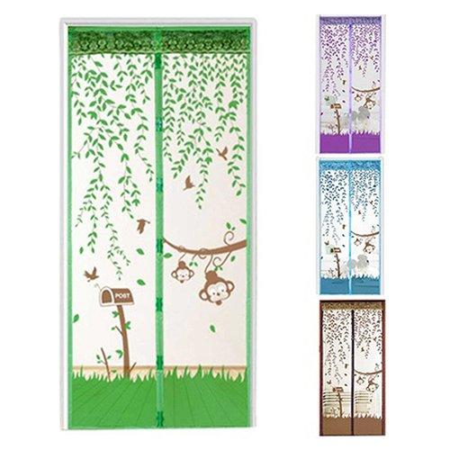 Sukisuki Hands-Free Magnetische Vliegende Insect Deurscherm Mesh Gordijn Muggennet 90cm x 210cm Groen