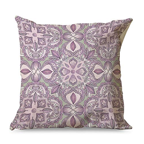 Generic Branded Casual Lavender & Grey Comfortable -Lavender Cushion Covers with Hidden Zipper for Chair Decoraction white 45x45cm