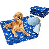 Yangbaga Washable Pee Pads for Dogs, Pack of 2 Non Slip Puppy Pads, 32x36in Extra Thick Whelping Pads with Great Urine Absorption, Odor Control Training Pads