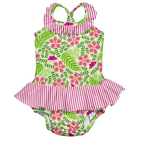 i play. 712159-500-44 Schwimmwindel- Badeanzug mit Rüschen 12-18 Monate, Lime Palm Garden