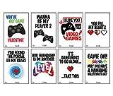 Neon Video Gamer Game Themed Valentine's Day Card Set (Set of 24) Valentine