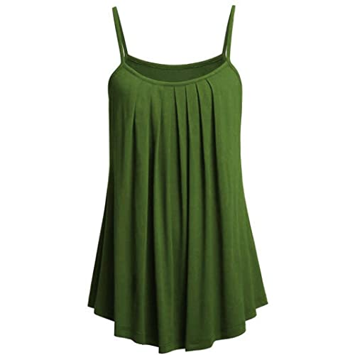 62c72c22cc861 Womens Camisole Ruched Vest Tops Kanpola Ladies Casual Loose Cami Tank Top  Shirt Blouse