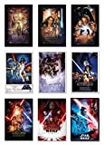 POSTER STOP ONLINE Star Wars Episode I, II, III, IV, V, VI, VII, VIII & IX - Movie Poster Set (9 Individual Full Size Movie Posters - Regulars Version 6) (Size 24 x 36' Each)