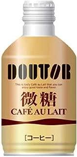 ドトールコーヒー ブラックコーヒーレアル微糖 260g×24本