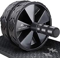 AMONAX Roue Abdominale Convertible, AB Roller Wheel, Roulette Abdominaux Exercice pour Abdominaux, Roue de Fitness pour...