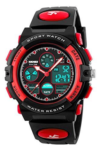 Uhr Kinder Mädchen Jungen Analog Digitaluhr 5ATM Wasserdicht Outdoor Sport Quarz Armbanduhr LED Alarm Stoppuhr Datum Multifunktional