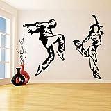 Calcomanía De Pared De Bailarina De Hip Hop, Pegatina De Pared De Break Dance, Calcomanía De Vinilo De Bailarina Moderna Para Estudio De Baile, Decoración De Sala De Baile, 72X57Cm
