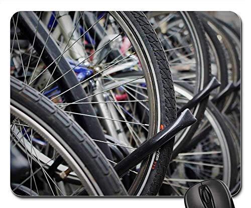 Mauspad Fahrradreifen Reife Schlauchständer Felge Fahrrad Mauspad Studentenschlafsaal Desktops Spielgeschenk Langlebige Weihnachten Gummi Tastatur Büro 25X30Cm Maus Matte Computer