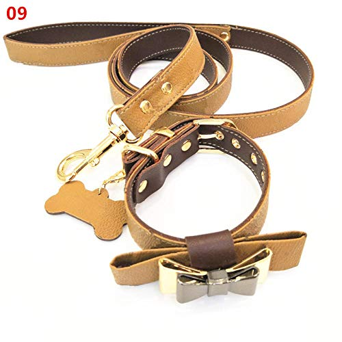 FGHJ Pet Cat Dog Safety Traction Belt Harness Collar Puppy Dog Collar Leash for Small Medium Animals Pet Walking Harness-09_M 24-34cm