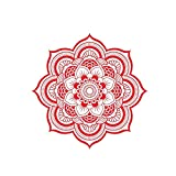 Cool stickers racing stickers car decals for wom Mandala Car Decal Half Mandala Vinyl Sticker Suitable for Car Boho Decal Mandala Flower Meditation Decal Flower Decal Car Sticker ( Color Name : Red )